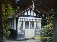 antique vintage summer house shed