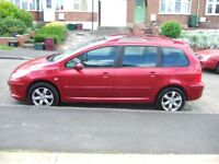 sold sold PEUGEOT 307 1.6 HDI DIESEL 5DR ESTATE,92000 MILES WITH HISTORY TO 2016 MANUAL MOT MAY 2019