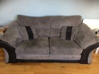 2 Seater Sofa black & grey x2