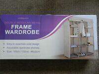 Double Modular Metal Framed Fabric Wardrobe - Jute