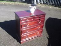 Very Clean Mahogany Stag Furniture Chest Of Drawers
