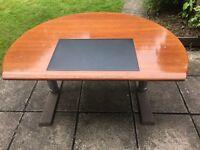 Hard Wood Brown Large Desk Office Home