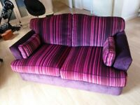 Sofabed. 2-3 Seater sofa. Sprung mattress