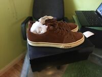 Polo Ralph Lauren trainers size 11 brown suede