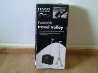 Tesco foldable travel trolley. Brand new in box