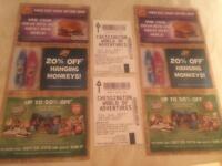 Chessington World Of Adventures x2 tickets 23/05/17
