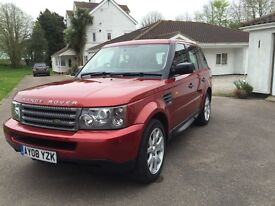 2008 Range Rover Sport tdv6 2.7 litre , fsh, Rare red coulour , very nice to drive