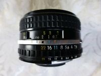 Nikon Series E 28mm 1:2.8 camera lens in excellent condition
