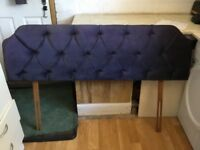 Padded headboard to fit double bed. Good condition