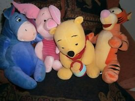 set of giant Winnie the pooh soft toys
