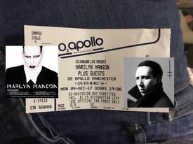 Marilyn Manson Manchester Ticket,