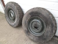 landrover series wheels and tyres.