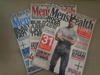 3x men's health magazines bundle joblot rrp £12!