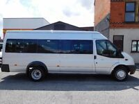 Finance Available at £10.47 a day Ford Transit LWB 17 seat factory fitted minibus (43)