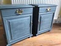 Refurbished Antique Bedside Tables/Cabinets
