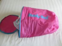 hildren's Barbie Blow up Bed & Sleeping Bag in one. Ready made bed. £8.00