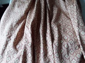 A Pair of Laura Ashley Sitwell Brick Lined Curtains