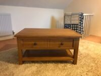 A classy Oak & oak veneer coffee table - bought from Porcupine in Chipping Norton