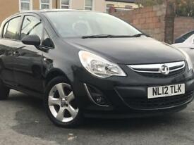 2012 ( 12 ) VAUXHALL CORSA ACTIVE 1.2 PETROL BLACK 5 DOOR LOW MILEAGE
