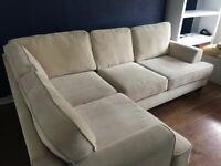 Left hand corner sofa