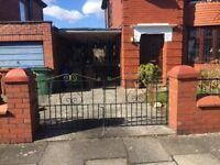 2 sets heavy duty driveway gates wrought iron