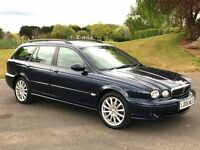 2006 JAGUAR X-TYPE 2.0 DIESEL ESTATE * FULL BLACK LEATHER * NEARLY NEW MOT * FSH
