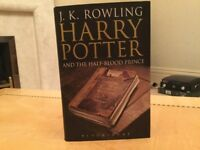 Harry Potter and the half blood prince hardback adult cover First edition
