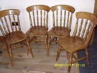 Set of 4 Farmhouse Kitchen Chairs