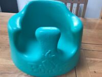 Bumbo seat - turquoise with white plastic tray
