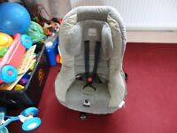 cozy soft car seat in good condition up to two year old