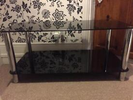 Black/silver TV unit