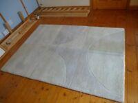 Subtle Geometric Rug Wool Rug - Slight Discolouration