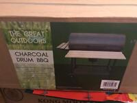 Charcoal drum BBQ