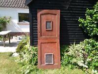 Stable door exterior hardwood