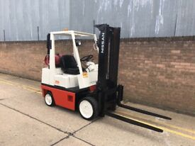 Nissan 2.5ton gas forklift, very good truck