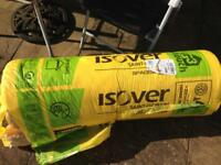 Nearly Full Roll Of Insulation Isover Spacesaver Loft Roll Combi Cut 1160 x 3880 x 200mm (4.5 Sq. m)