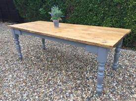 7ft Refurbished Rustic Farmhouse Table