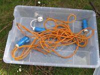 Caravan hook up cables and caravan wiring