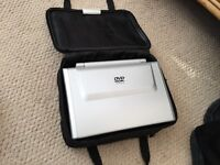 Wharfdale portable DVD player with carrying case and accessories
