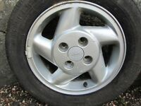 FORD 14 INCH WHEELS, SET OF FOUR INCLUDING GOOD ROAD TYRES