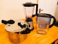 Brand new Tefal Pressure Cooker, Blender and Water Filter Set