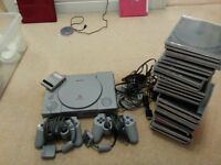 SONY PLAYSTATION SET WITH GAMES AND EXTRAS