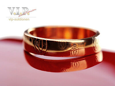 CARTIER LOGO HAPPY BIRTHDAY ALLIANCE RING EHERING 18ct PINK GOLD WEDDING BAND 51