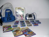 Leapster L-Max console and 14 games plus carry bag. All Good