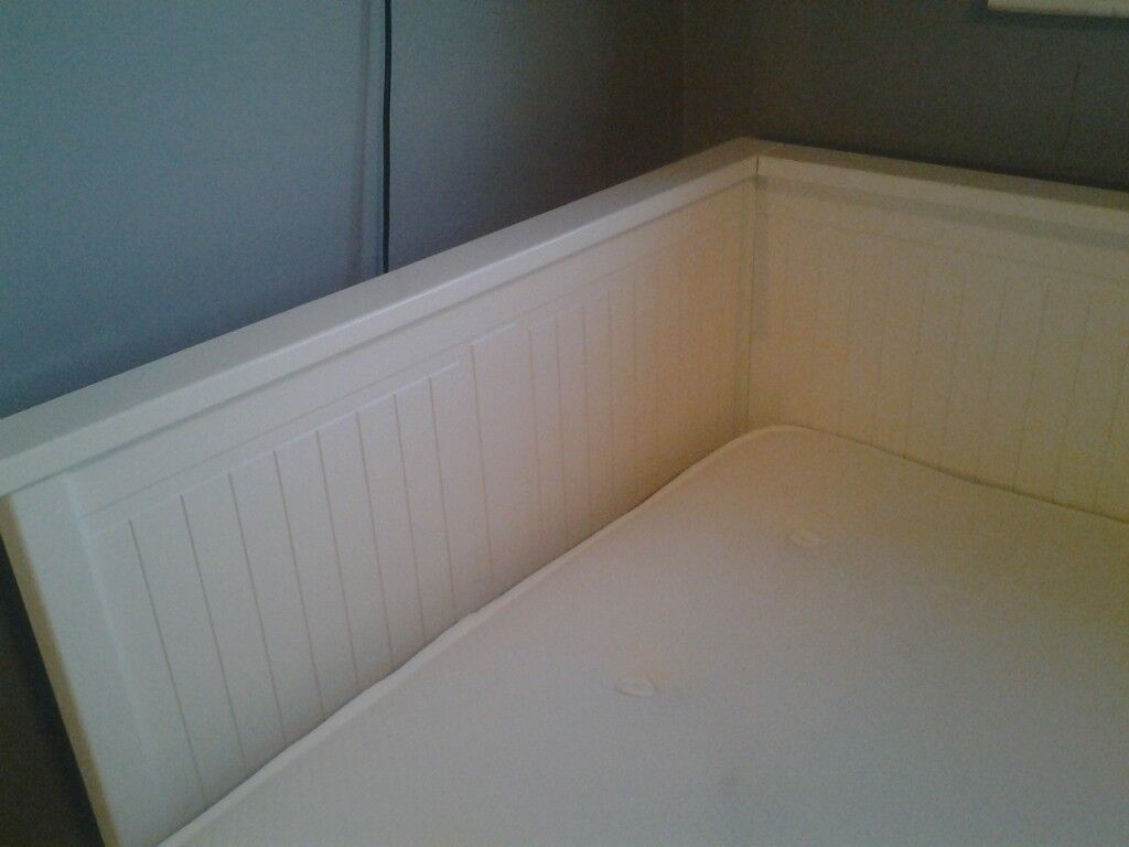 Ikea White Day Bed with John Lewis Mattress
