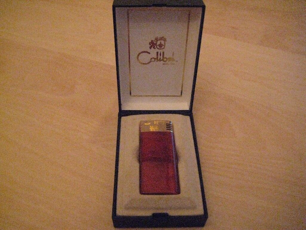 COLIBRI OF LONDON ELECTRONIC LIGHTER ORIGINAL BOX WITH INSTRUCTIONS NICE CONDITION
