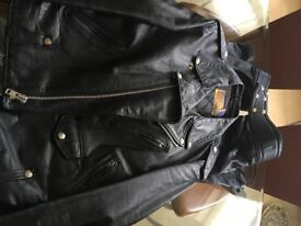 Schott Perfecto Leather Jacket and Leather Chaps