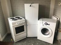 Washing Machine, Fridge Freezer & cooker