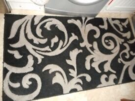 black and grey small rug