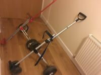 2 x folding golf trolleys